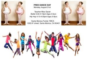 Free Dance Day YMCA Fall 2015
